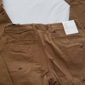 GAP Pants - Gap pants with embroidered eagles.  32x34 slim